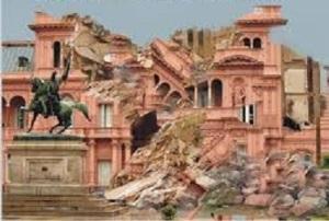 Casa Rosada Destruida