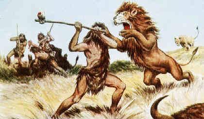 Resultado de imagen para imagenes hombre primitivo escapando