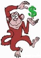 Mono bailando por la plata