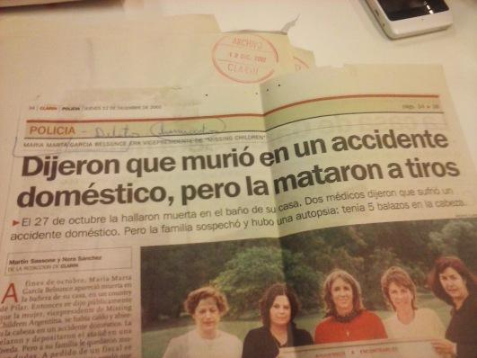 Resultado de imagen para imagenes asesinato maria marta belsunce
