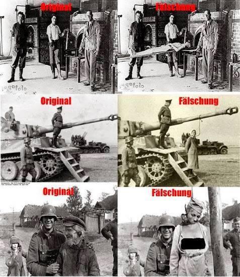 Resultado de imagen para imagenes fotos falsas del holocausto